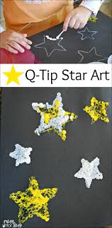 Kids Art Project - Q-Tip Star Art: A creative way for kids to
