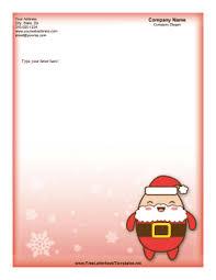 Christmas Letterhead Template Christmas Letterhead Cute Red Santa