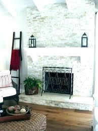post covering brick fireplace with tile slate over how to a hunker surround edge