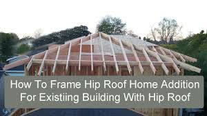 Four Sided Roof Design How To Frame Hip Roof Home Addition For Existing Building With Hip Roof