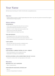 Cover Letter Waitress Resume Examples Sample For Server Cv Example
