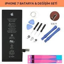 iPhone 7 Batarya+Tamir Seti 0.6 Y Tornavida+Bant Dahil Fiyatları ve  Özellikleri