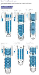 British Airways Organisational Chart British Airways World Traveller Seating Charts Boeing 777