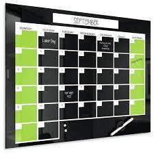 black magnetic glass dry erase monthly calendar quartet board x