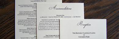 Wedding Invitation Inserts White Tie Designs