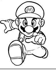 Mario Bros Mario Running Coloring Page Printable