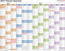 year calender fiscal calendars 2017 as free printable excel templates