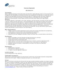 Sample Contract Specialist Resume Resume Contract Specialist Resume Example Adout Resume Sample 1
