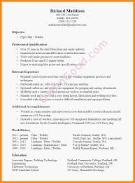 Pipefitter Resume Examples April Themarch Welder Resume Examples