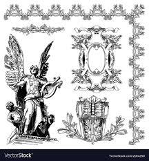 Ornamental Design Drawing Vintage Sketch Ornamental Design Element