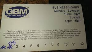 Discount Punch Card