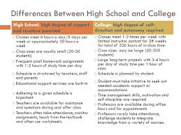 differences between highschool and college essay comparison essay differences between high school