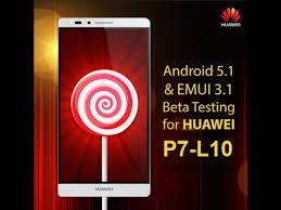 Update Huawei Ascend p7-L10 EMUI 3.1 lollipop 5.1.1 - YouTube