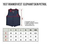 1937 Vest Pike Brothers Roamer Vest Elephant Skin Petrol