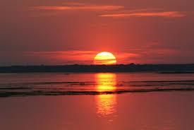 summer sunset over water