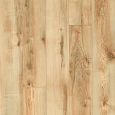 style selections rustic honey maple 5 23 in w x 3 93 ft l smooth wood plank laminate flooring