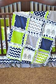 blue and green crib bedding lime green elephant nursery decor elephant crib bedding blue rag quilt blue and green crib bedding
