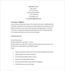 Resume Retail Sample Resume Template Retail Free Samples Examples ...