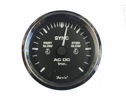 dual engine synchronizer gauge ac dc marine inc sync