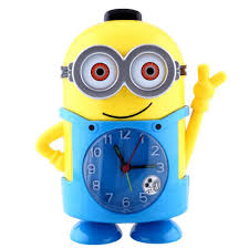 2018 dhl free new style deable me 3d eye minions alarm clock with mute function watch soft light for children from wrisch2016 9 25 dhgate com