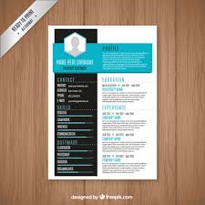 modern resume template free vector colorful resume template free download