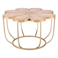 brown margarita coffee table by zuo modern