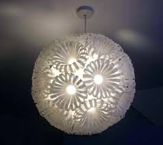 chandelier made from plastic bottles lamp made by turner chandelier made of plastic bottles