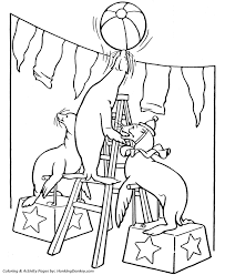 Small Picture Circus Animal Coloring Pages Printable performing Trained