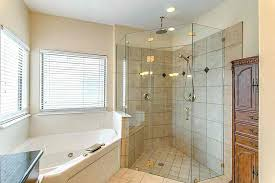 shower stall lighting. Overhead Rain Shower Head Corner Angle Stall Installed In The Bathroom With Ceiling And Recessed Lights Lighting U