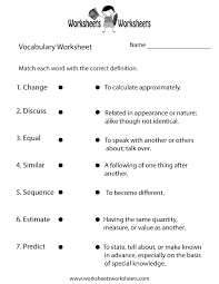Vocab Building Worksheets Vocabulary Building Worksheet