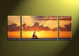 3 piece canvas wall art sunset canvas print sunset wall art wall art on 72 wide wall art with triptych yellow ocean sunset huge canvas art