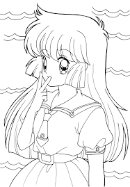 Fair Anime Coloring Pages For Girls Printable In Cure Anime Coloring