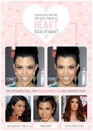 the inverted triangle face shape is also known as the heart shaped face