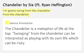 i m gonna swing from the chandelier from the chandelier