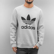 adidas jumper. adidas overwear / jumper trefoil fleece in grey men,adidas r1 olive,discount sale