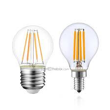 1pc 4 W Led Filament Bulbs 380 Lm E14 E12 E26 E27 G45 4 Led Beads
