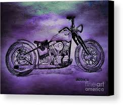 harley davidson wall art 1950 harley davidson panhead motorcycle purple moon canvas print