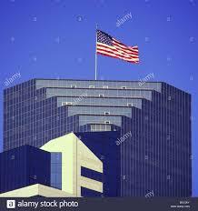 American Flag Flag Office Building Highrise Towerblock Multistory