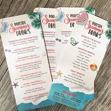 City Light Restaurant Menu Pool Menus Are The Perfect Way To Get Guests To Stay Happy