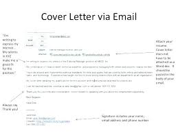Cover Letter Emails Cover Letter Email Attachment Cover Letter By