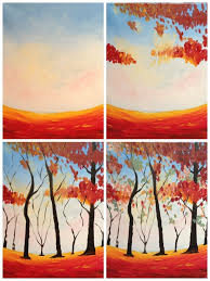 painting with a twist evolutions evolution of colors of autumn painted painting