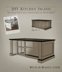 build a diy kitchen island building plans by buildbasic build basic