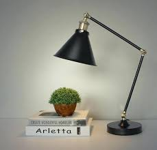 E Retro Table Lamp Style With Iron Shade Neoclassical  Industrial Desk Free