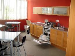 Kitchen Office Agreeable Modular Kitchen Design Ideas With L Shape And White Red