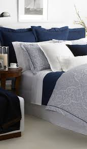 ralph lauren navy bwood paisley bedding printed on sleek 400 thread count egyptian cotton percale a menswear inspired paisley design evokes iconic