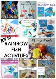 ten of the most fun activities that you can do for the rainbow fish story with kids