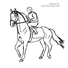 Race Horse Drawing At Getdrawingscom Free For Personal Use Race