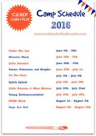 Summer Camp Weekly Schedule 20 Exciting Summer Camp Themes With Project Ideas Summer Camp