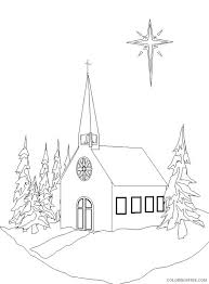 Today i am sharing with you all some exclusive free winter coloring pages for kids to print! Church Coloring Pages In Winter Coloring4free Coloring4free Com