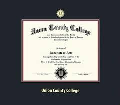custom diploma frames certificate frames framing success  union county college diploma frame black and maroon double mat and gold embossing approximate frame size 17 x 19 inches